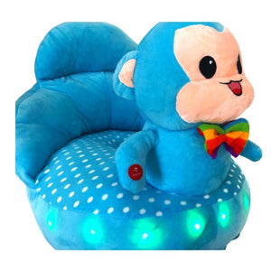 Plush chair blue monkey