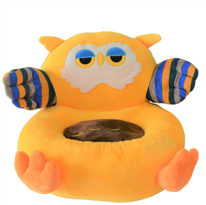 Plush Chair Toddlers Yellow Owl Design - The Royal Kids