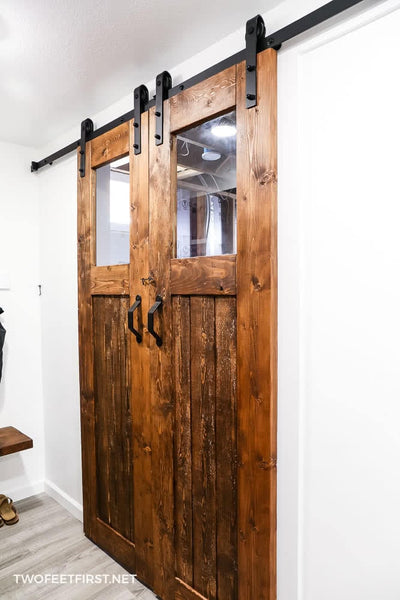 DIY Double Barn Door with Glass Windows: Plan