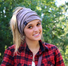 Load image into Gallery viewer, PONYTAIL, MESSY BUN BEANIE, MULTI-FUNCTION FACE COVER MASK