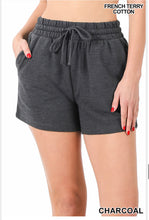Load image into Gallery viewer, French Terry Cotton Drawstring Shorts
