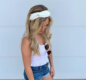 White Elastic Headband