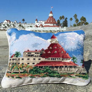 Hotel del Coronado Needlepoint Pillow