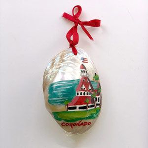 Painted Shell Ornament