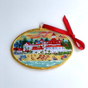 Hand-Painted Wood Ornament by Deborah Reeves
