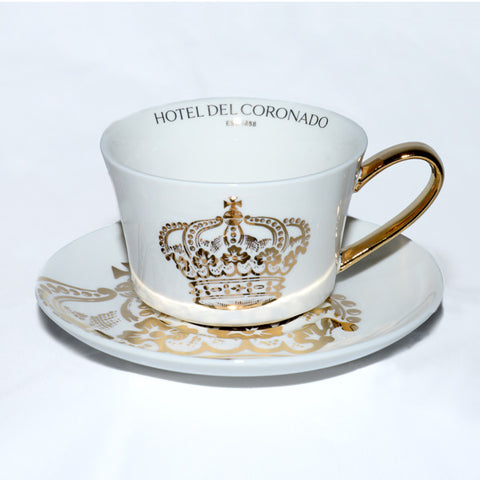 Gold Crown Tea Cup and Saucer