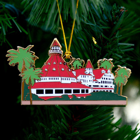 Hotel del Coronado Painted Ornament