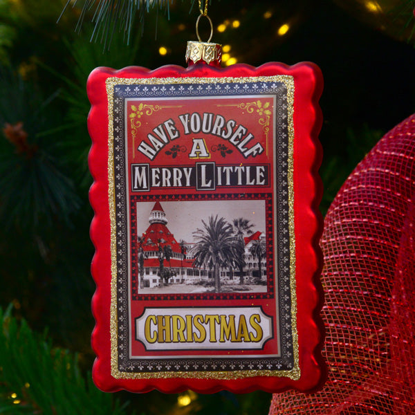 Hotel del Coronado Glass Ornament
