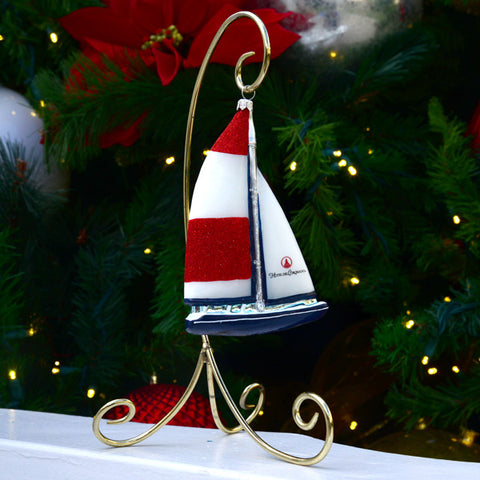 Hotel del Coronado Sailboat Ornament