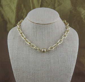 "16"" Gold Link Chain Necklace with Magnetic Clasp"