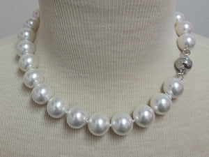 "16"" Pearl Necklace with Silver Magnetic Clasp"