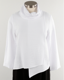 Christopher Calvin Cowl Neck Rayon Top