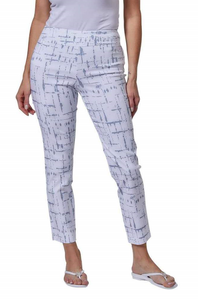 Krazy Larry Pull On Lines Print Ankle Pant
