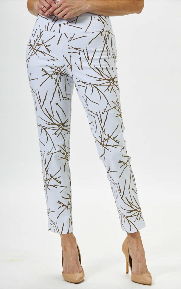 Krazy Larry Firecracker Print Pull On Ankle Pant