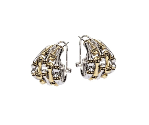 John Mederios Canias 5 Row Omega CLIP Earrings