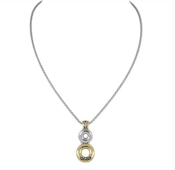 John Mederios Ciclo D'Amor Double Circle Necklace