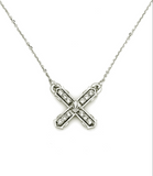 French Kande - Petite Swarovski French Kiss Necklace - Silver