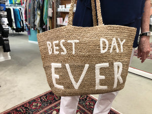 Best Day Ever Jute Tote Bag