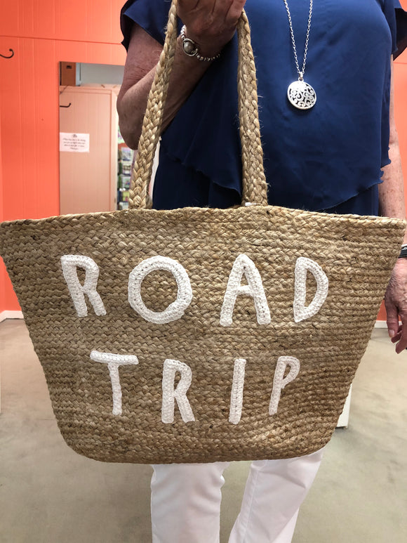 Road Trip Jute Tote Bag