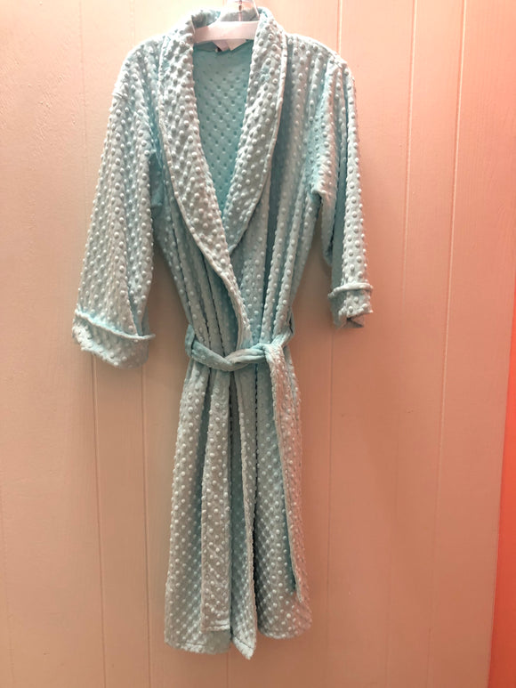 Long velour tie front robe