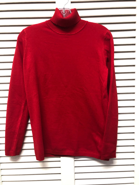 L/S fitted turtleneck sweater