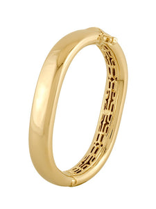 John Medeiros Antiqua Tailored Large Gold Bracelet