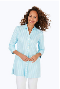 Foxcroft Pamela Non-Iron Striped Blouse
