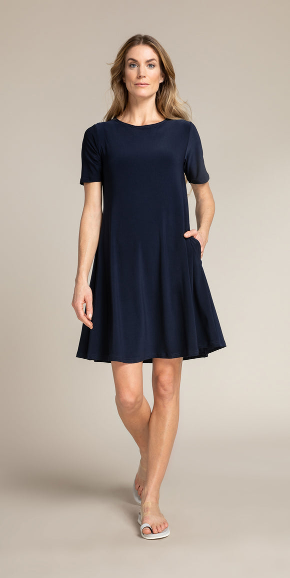 Sympli Trapeze Dress Short