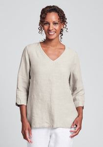 Flax V Pullover Top
