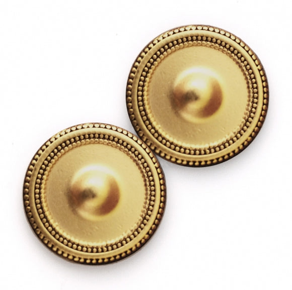 Magnetic Scarf Button in Antique Gold