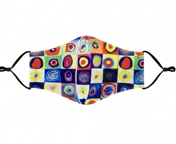 Squares w circles cloth mask