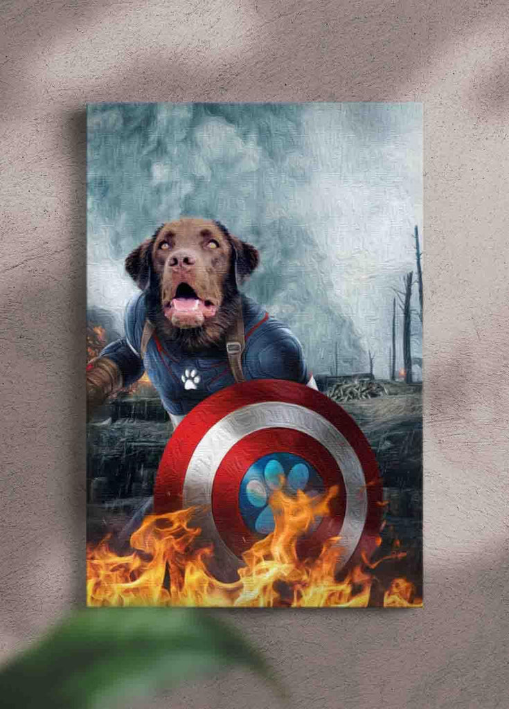 Captain Doggmerica - Custom Pet Portrait - NextGenPaws Pet Portraits