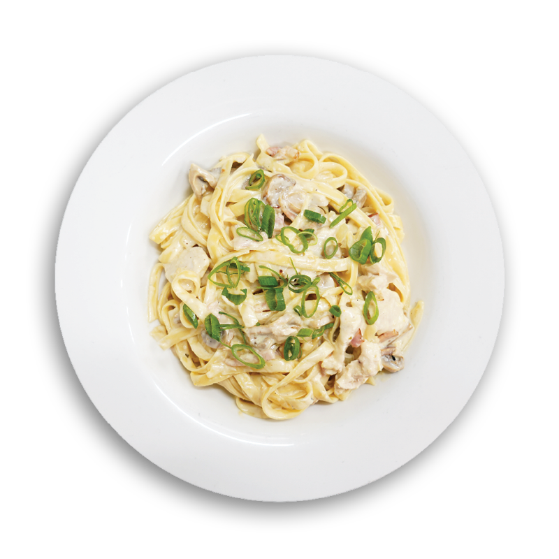 Chicken Fettuccine Carbonara - Fresh