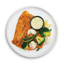 Load image into Gallery viewer, LARGE FILLET OF FISH WITH CREAMY DILL SAUCE - LOW CARB!