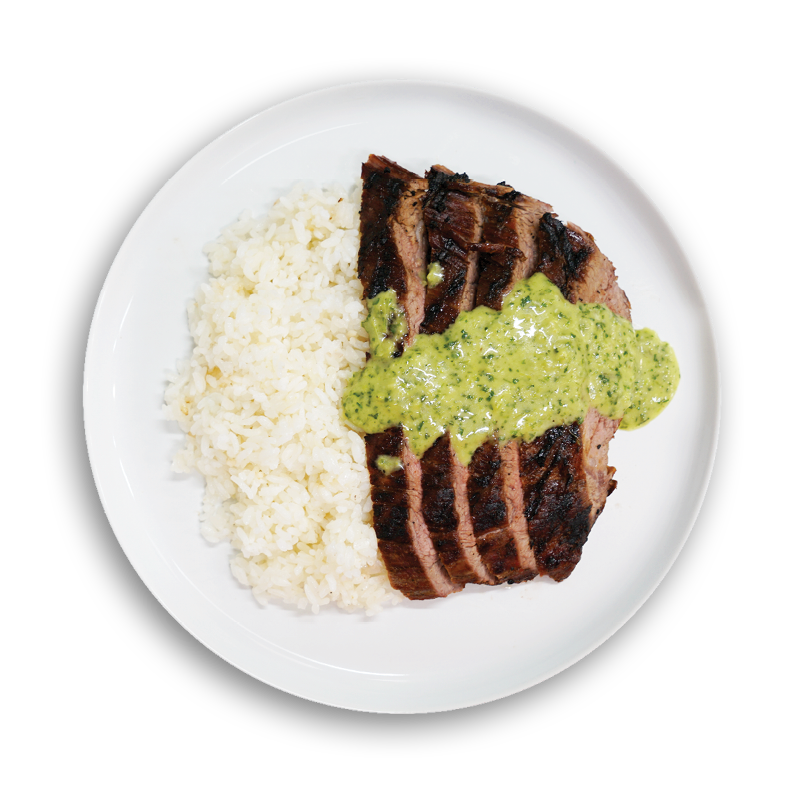 Steak on a Plate with ChimiChurri Sauce - Fresh