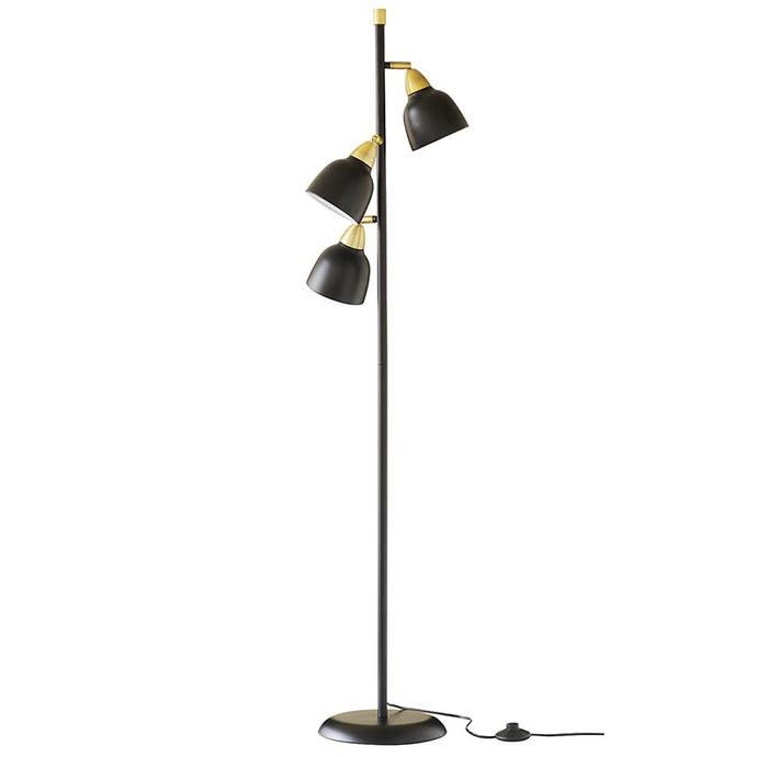 Urban Triple Floor Lamp, Matt Real Black