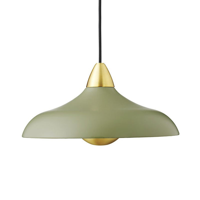 Urban Wide Pendant, matt Olive
