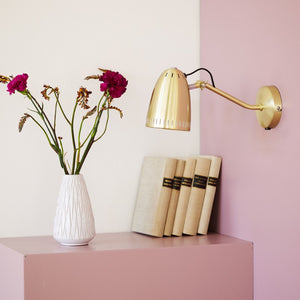 Dynamo Wall lamp, Brushed Brass