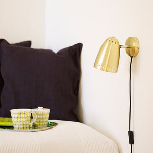 Dynamo Short Wall lamp, Brushed Brass