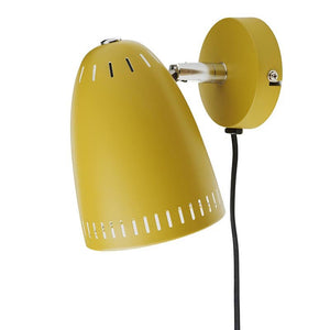 Dynamo Short Wall lamp, matt Mustard