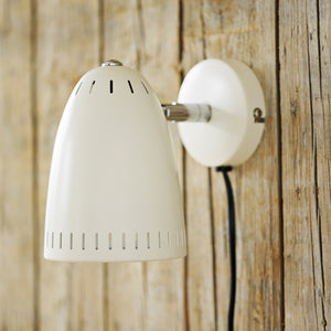 Dynamo Short Wall lamp, matt Whisper White