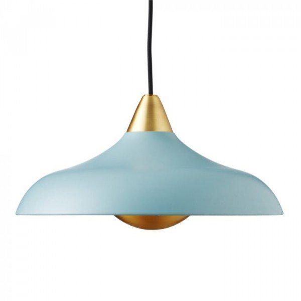Urban Wide Pendant, matt Mineral Blue