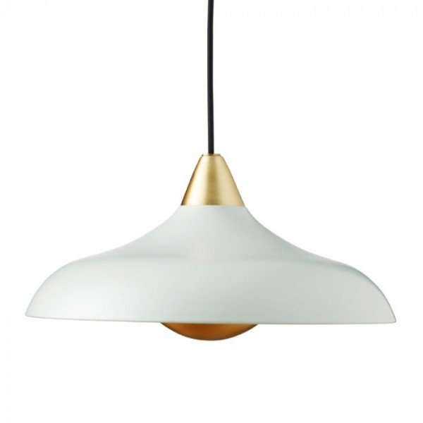 Urban Wide Pendant, matt Misty Green
