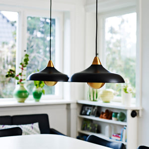 Urban Wide Pendant, matt Real Black