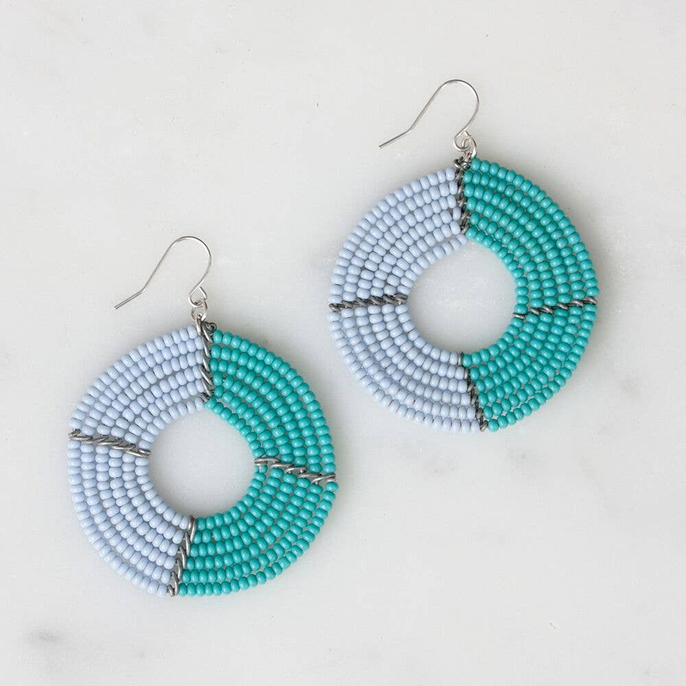 Light Blue & Turquoise Ngare Earrings