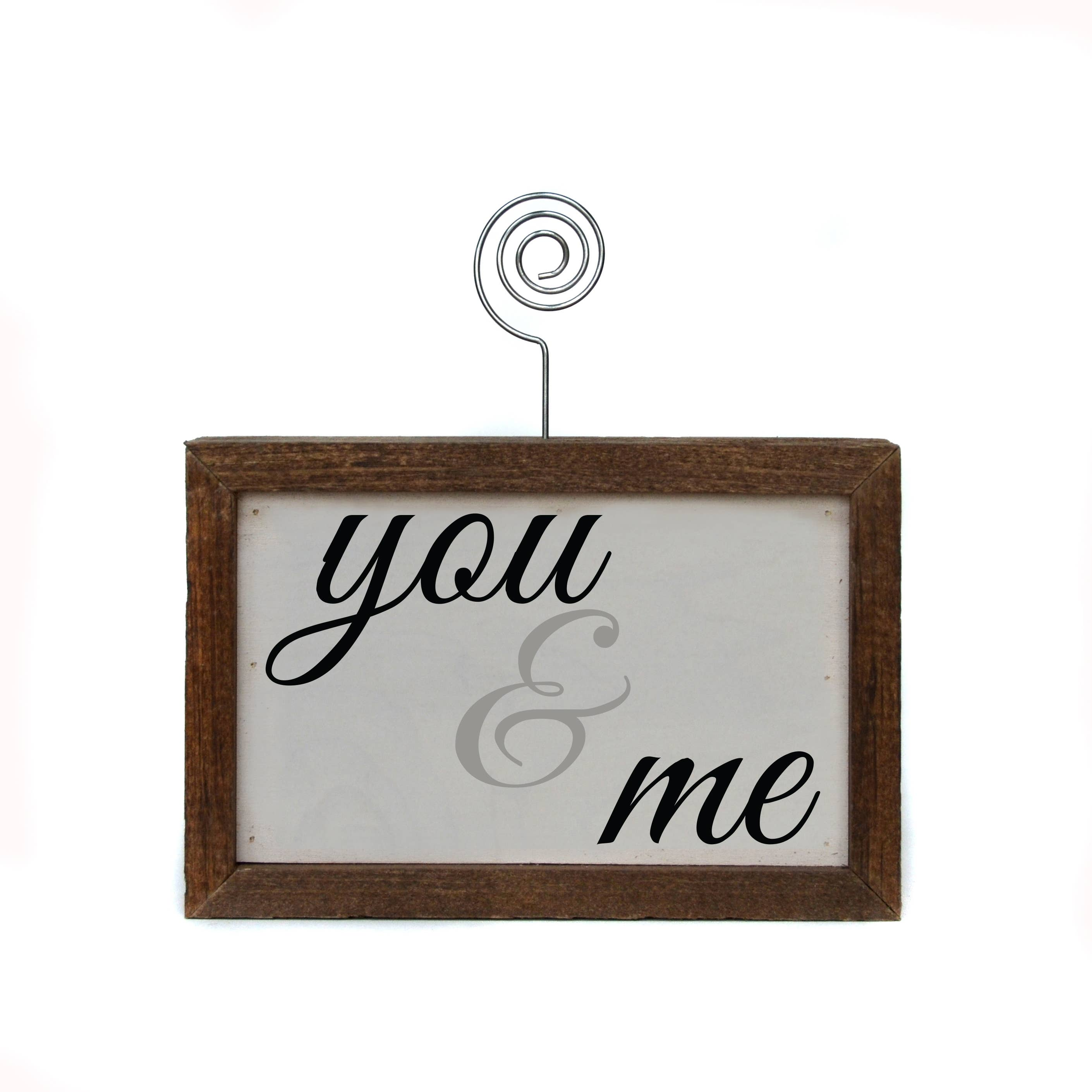 You & Me Picture Block
