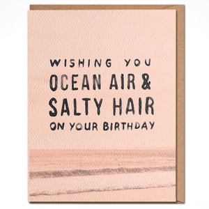 Ocean Air Salty Hair Card