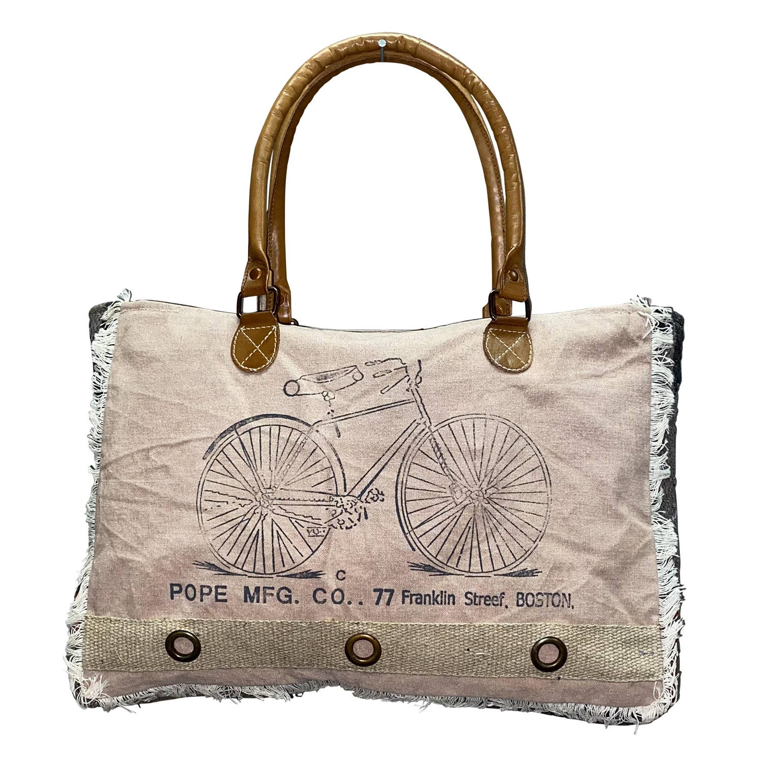 Fringy Bicycle Tote Bag