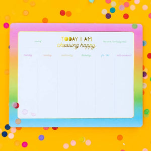 Choose Happy Weekly List Pad