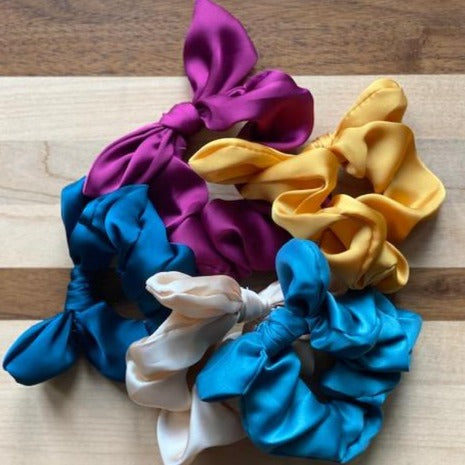 Satin Scrunchie with a Bow